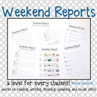 Weekend Reports for Special Education Students