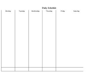 Weekly Assignment Sheet (Excel) (FREE)