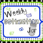 Weekly Estimation Jar Set ~ White Dots on Black