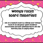 Weekly Focus Board- Stars