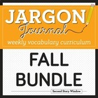 Weekly Interactive Vocabulary Notebook Unit Fall Bundle