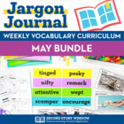 Weekly Interactive Vocabulary Notebook Unit May Bundle