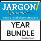 Weekly Interactive Vocabulary Notebook Unit Year Bundle