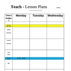 Weekly Lesson Plan Sheet (Elementary Teachers)