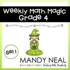 Weekly Math Magic - Fourth Grade, Set 1 (CCSS aligned)