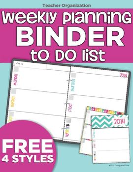 Weekly Planning Binder To Do List