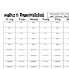 Weekly Priase & Thanksgiving sheet- black & white