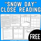 Weekly Close Reading - FREEBIE - Snow Day