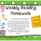 Weekly Reading Fluency Homework Part 2