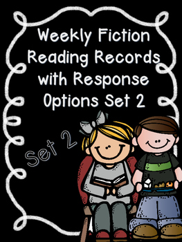 Editable Weekly Reading Records with Comprehension Activities SET 2-CCSS-