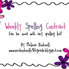 Weekly Spelling Contract:  Can be used with Any List!