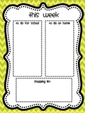 "Weekly Teacher ""to do"" List & Grocery List"