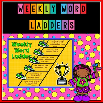 Weekly Word Ladder Vocabulary Activity