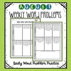 Weekly Word Problems August