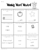 First Grade Common Core Weekly Word Work {Set One}