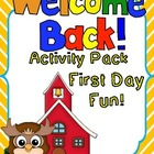 Welcome Back Activity Pack! Back to School Fun and Games