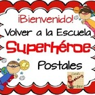 Welcome Back to School Postcards with a Superhero Theme (S