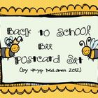 "Welcome ""Bee"" Postcards (editable file)"
