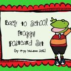 "Welcome ""Froggy"" Postcards (editable file)"