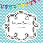 """Welcome"" Printable Bunting -FREEBIE-"