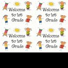 Welcome to 1st Gr Postcards (printable)