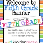 Welcome to Fifth Grade Banner