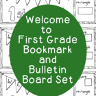 Welcome to First Grade Back to School Bookmark Printable C
