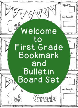 Welcome to First Grade Back to School Bookmark Printable Coloring Page ...