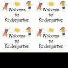 Welcome to Kindergarten Printable Postcards
