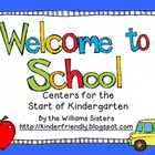 Welcome to School ~ Math & Literacy Centers to Get the Sch