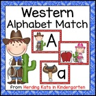 Western Cowboy Themed Alphabet Match-Up