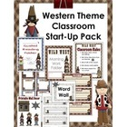 Western Theme Classroom Start-Up Pack-Revised