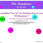 Wh Question Program Bundle