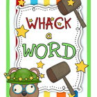 Whack A Word Spelling Station--Common Core