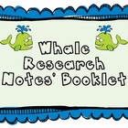 Whale Research Notes' Booklet
