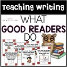 What Good Readers Do  (Common Core Aligned Poster Set)