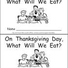 What Will We Eat on Thanksgiving Kindergarten Emergent Rea