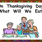 What Will We Eat on Thanksgiving Kindergarten Shared Readi
