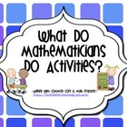 What do Mathematicians do? activities-resources-worksheets