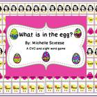What is in the Egg?  A CVC and Sight Word Game