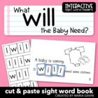"Interactive Sight Word Reader ""What will the Baby Need?"""