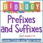What's In A Name?  A Study of Biological Prefixes and Suffixes