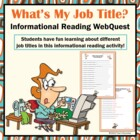 What's My Job? Occupational Titles Search Skills Google WebQuest