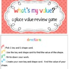 What's My Value? - Place Value Review Game