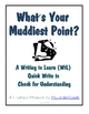"""What's Your Muddiest Point?"" A Comprehension Quick-Write"