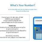 What's Your Number?  Auditory Memory Practice (Forward and
