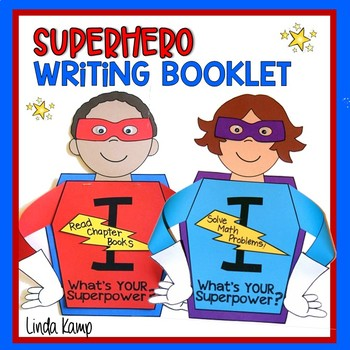 Superhero Back To School Goal Setting or End Of Year Reflection Writing Craft