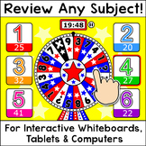 Wheel of Knowledge Quiz-E Game - Review any Subject – For