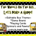 Wheels On The Bus Game Fun! Bus Theme Editable Game Board,