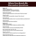When You Reach Me by Rebecca Stead Discussion Questions